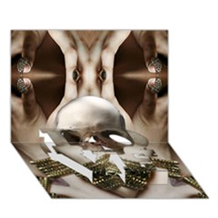 Skull Magic LOVE Bottom 3D Greeting Card (7x5)