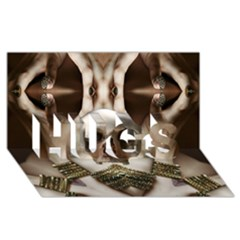 Skull Magic HUGS 3D Greeting Card (8x4)