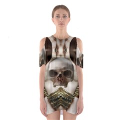 Skull Magic Cutout Shoulder Dress