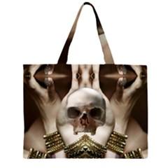 Skull Magic Zipper Large Tote Bag