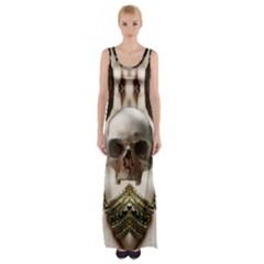 Skull Magic Maxi Thigh Split Dress