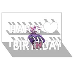 Funny Fruit Face Head Character Happy Birthday 3D Greeting Card (8x4)