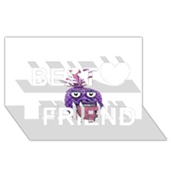 Funny Fruit Face Head Character Best Friends 3D Greeting Card (8x4)