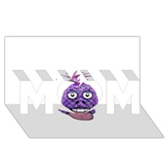 Funny Fruit Face Head Character MOM 3D Greeting Card (8x4)