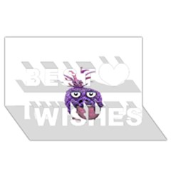 Funny Fruit Face Head Character Best Wish 3d Greeting Card (8x4)