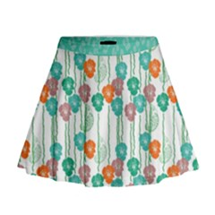 Flower Mini Flare Skirt