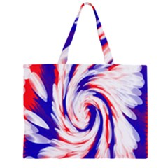Groovy Red White Blue Swirl Large Tote Bag