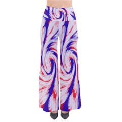 Groovy Red White Blue Swirl Pants