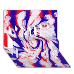 Groovy Red White Blue Swirl You Rock 3D Greeting Card (7x5)