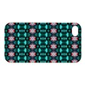 Fancy Teal Red Pattern Apple iPhone 4/4S Premium Hardshell Case View1