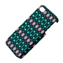 Fancy Teal Red Pattern Apple iPhone 4/4S Premium Hardshell Case View4