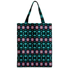 Fancy Teal Red Pattern Classic Tote Bag