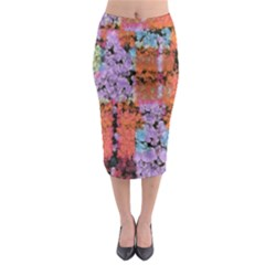 Paint texture                                       Midi Pencil Skirt