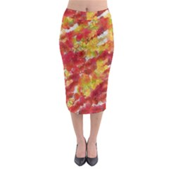 Colorful Splatters                                        Midi Pencil Skirt
