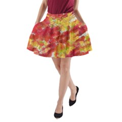Colorful Splatters                                      A-Line Pocket Skirt