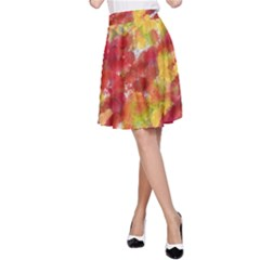 Colorful Splatters                                      A-line Skirt