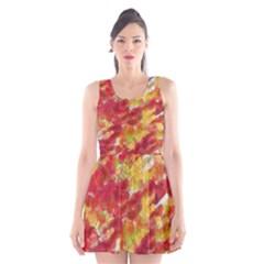 Colorful Splatters                                      Scoop Neck Skater Dress