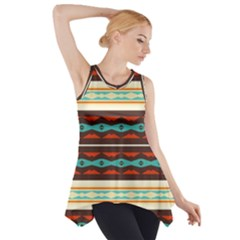 Stripes and rhombus chains                                      Side Drop Tank Tunic