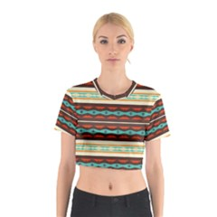 Stripes and rhombus chains                                      Cotton Crop Top