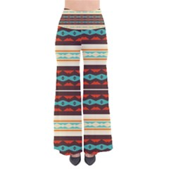 Stripes and rhombus chains                     Women s Chic Palazzo Pants