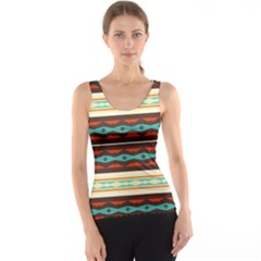 Stripes and rhombus chains                                      Tank Top