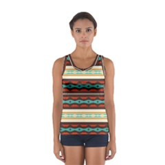 Stripes and rhombus chains                                      Women s Sport Tank Top