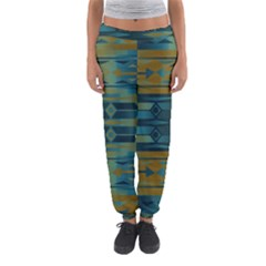 Blue Green Gradient Shapes                                       Women s Jogger Sweatpants