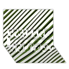 Diagonal Stripes YOU ARE INVITED 3D Greeting Card (7x5)