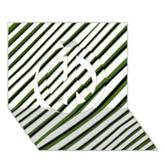Diagonal Stripes Peace Sign 3D Greeting Card (7x5)