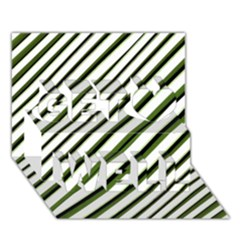 Diagonal Stripes Get Well 3D Greeting Card (7x5)