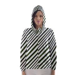Diagonal Stripes Hooded Wind Breaker (Women)