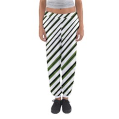 Diagonal Stripes Women s Jogger Sweatpants