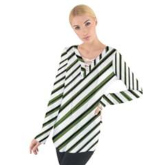 Diagonal Stripes Women s Tie Up Tee