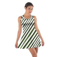 Diagonal Stripes Racerback Dresses