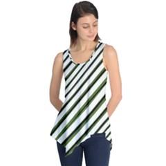 Diagonal Stripes Sleeveless Tunic