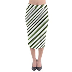 Diagonal Stripes Midi Pencil Skirt