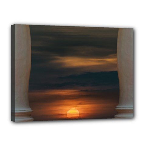 Peaceful Sunset Scene Viewpoint Canvas 16  x 12
