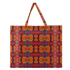 PLANET SPICE Zipper Large Tote Bag