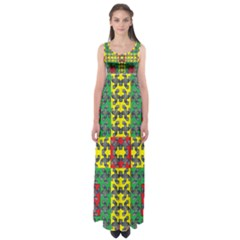 Flash Card Empire Waist Maxi Dress