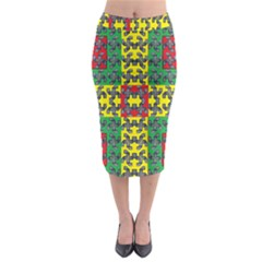 Flash Card Midi Pencil Skirt
