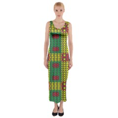 OREGON DELIGHT Fitted Maxi Dress