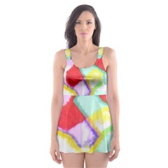 Watercolors Shapes                                         Skater Dress Swimsuit