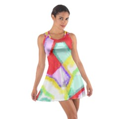 Watercolors Shapes                                         Cotton Racerback Dress