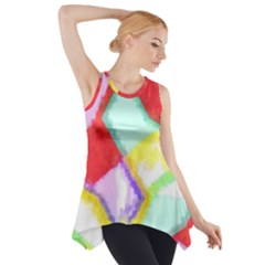 Watercolors shapes                                         Side Drop Tank Tunic