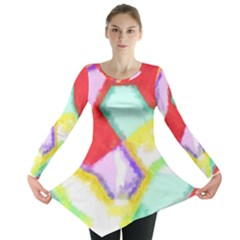 Watercolors shapes                                         Long Sleeve Tunic