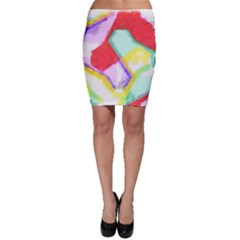 Watercolors Shapes                                         Bodycon Skirt