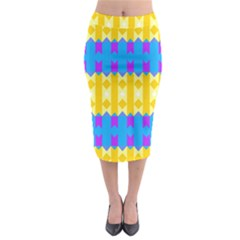 Rhombus And Other Shapes Pattern                                            Midi Pencil Skirt