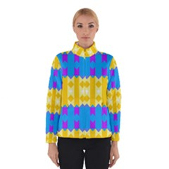 Rhombus And Other Shapes Pattern                                          Winter Jacket