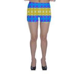 Rhombus and other shapes pattern                                          Skinny Shorts