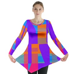 Misc Colorful Shapes                                           Long Sleeve Tunic
